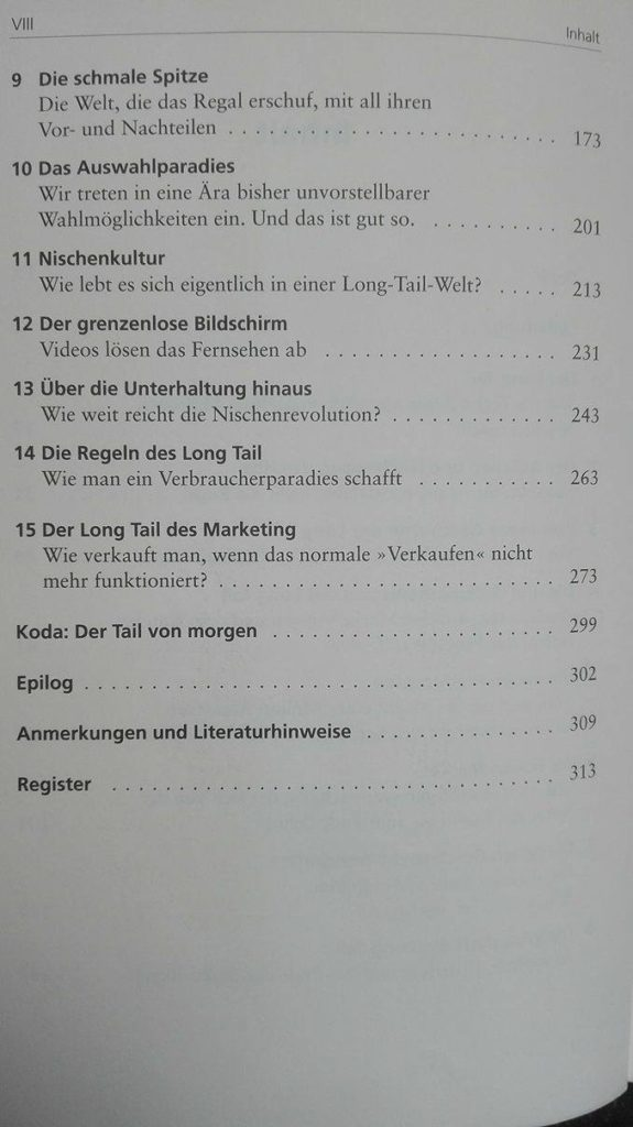Teil 2 the long tail - nischenprodukte inhalt